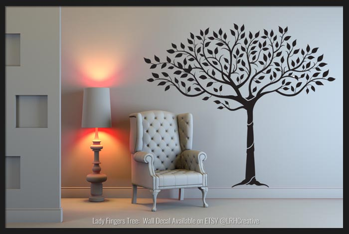 Lady Fingers Tree Wall Decal